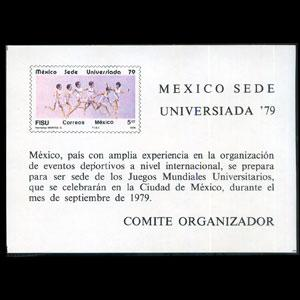 MEXICO 1979 - Scott# 1181 S/S Universiada NH