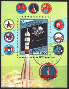 Cuba. 1987. bl98. Space. USED.