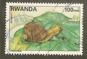Rwanda      Scott  1386       Snail, Fauna      Used