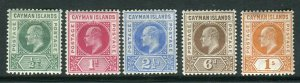 CAYMAN ISLANDS-1902-3  A mounted mint set to 1/- Sg 3-7
