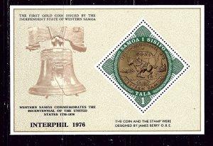 Samoa 437 MNH 1976 American Bicentennial S/S