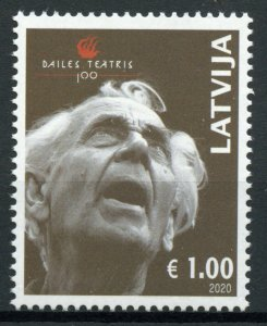 Latvia Performing Art Stamps 2020 MNH Dailes Theatre 100 Years Drama 1v Set