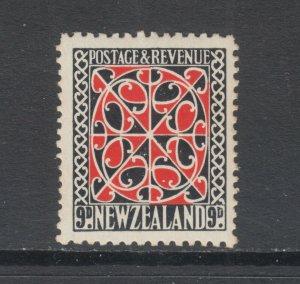 New Zealand Sc 195 MLH. 1935 9p black & scarlet Maiori Door Panel