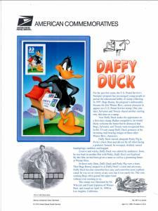 US CP571 Daffy Duck 3306c Commemorative Panel Mint