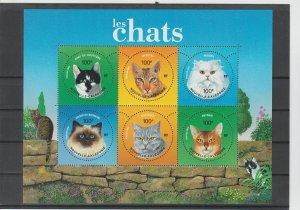 New Caledonia  Scott#  948  MNH  Sheet of 6  (2004 Cats)