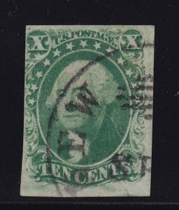 14 F-VF used neat cancel with nice color ! see pic !