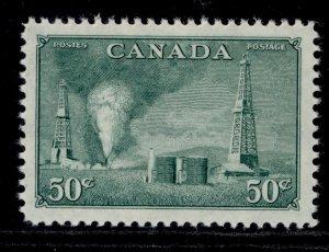 CANADA GVI SG431, 50c green, NH MINT.