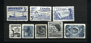 Canada  365, 366, 369,  370, 371, 372, 373, 374 used PD 1957