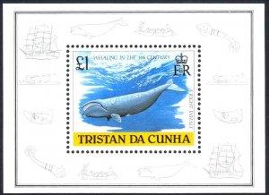 Tristan Da Cunha Sc# 438 MNH Souvenir Sheet 1988 Whaling