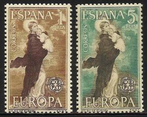 Spain 1963 Europa 1963 Scott# 1180-1181 MNH