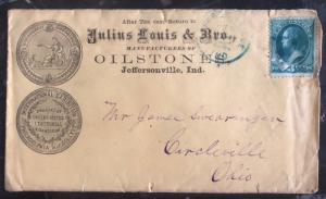 1900s Jeffersonville Oh USA Advertising cover Louis Oilstones To Circleville
