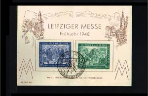 1948 - Allied Occupation Card FDC - Leipziger Frühjahrsmesse [A78_071]
