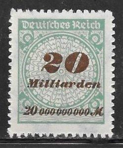 Germany 298: 20mlrd m Numeral, MNH, F-VF