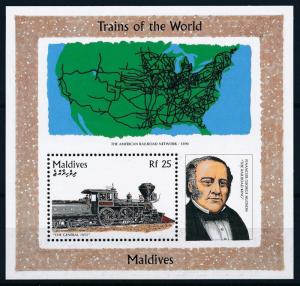 [62422] Maldives 1996 Railway Train Eisenbahn Chemin de Fer Souvenir Sheet MNH