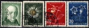 Switzerland #B126-9 F-VF Used CV $7..05  (X2608)