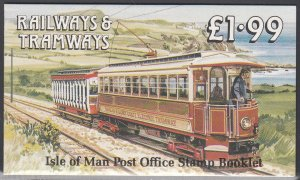 Isle of Man 355b, 355c MNH Booklet Pane