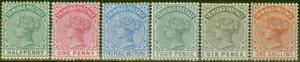 Trinidad 1883-84 set of 6 to 1s SG106-112 Fine & Fresh Mtd Mint