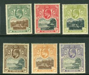 ST HELENA-1903  A mounted mint set to 2/-, 2/- is creased Sg 55-60