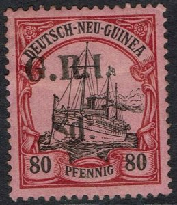 GRI NEW GUINEA 1914 YACHT 8D ON 80PF 5MM SPACING