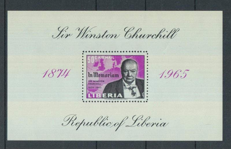 XG-Z749 LIBERIA - Churchill, 1965 In Memory MNH Sheet