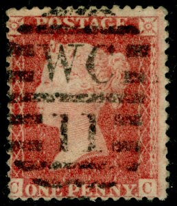 SG40, 1d rose-red PLATE 42, LC14, USED. Cat £18. CC