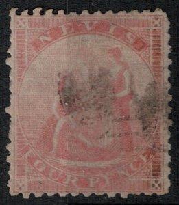 Nevis 1861 SC 6 Used SCV $80.00