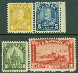 EDW1949SELL : CANADA 1930-31 Scott #168, 70, 73, 75 Mint Never Hinged Cat $150