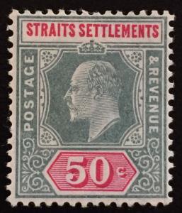 Malaya Straits Settlements 1906 KEVII 50c MLH MCCA SG#135 M1772