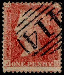 SG38, 1d pale red PLATE 39, LC14, FINE USED. Cat £35. JG