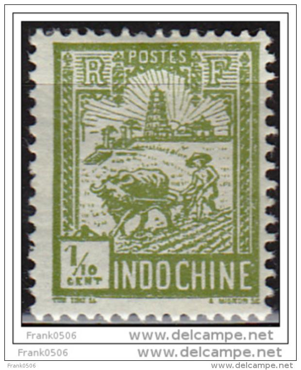 Indo China 1927, Plowing Near Tower of Confucius, 1/2c, Scott#115, MH
