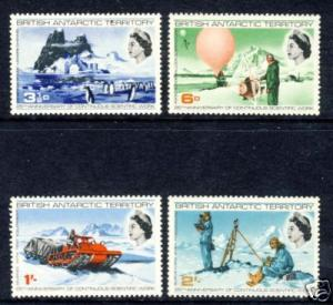 British Antarctic Territory SC# 20-23 1969 25th SCIENTIFIC