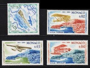 Monaco Scott 565-68 F to VF mint OG NH.
