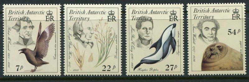 British Antarctic Territory Scott 125-28 1985 Bird Seal Dolphin Mint NH