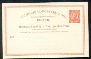 ICELAND Double Card #27, unused, VF