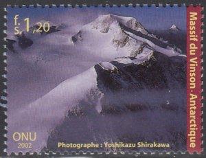 United Nations Geneva 2002 MNH Sc #394 1.20fr Vinson Massif, Antarctica