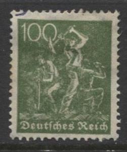 GERMANY. -Scott 172- Definitives -1921- MH - Wmk 126 - Single 100m Stamp