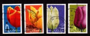 Canada - #1946a-d Tulips Diecut set/4 - Used