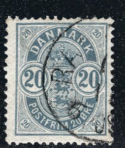 Denmark Nice SC #37  F-VF Used  SCV$60...Such a Deal!