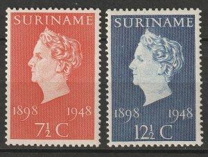 Suriname 1948 Sc 234-5 set MNH