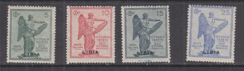 LIBYA, 1922 on Italy Victory set of 4, lhm.