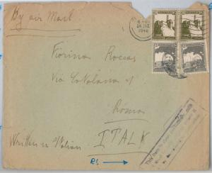 ISRAEL Palestine --  POSTAL HISTORY: PICTORIAL set on COVER - RETURNED for TAX