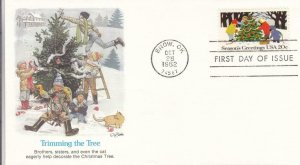 1982, Trimming the Tree, Fleetwood, FDC (D12908)