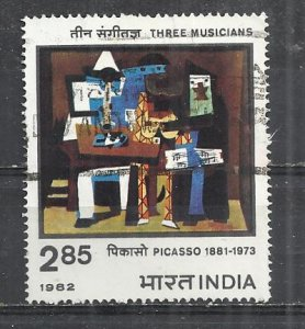 INDIA 1982 - PABLO PICASSO PAINTING - USED