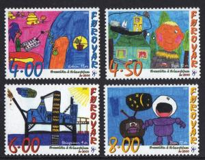 Faroe Islands 2000 MNH chilren`s paintings complete