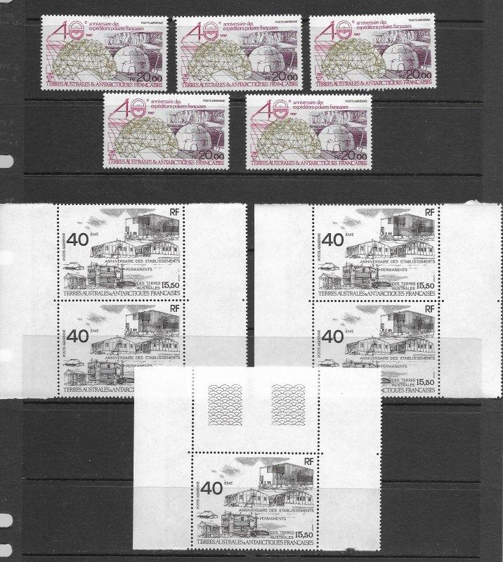 FSAT C99, C100-1,C102,C128 MNH x 5 vf, see desc. 2020 CV$132.75