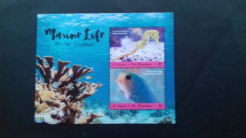 St vincent 2018 Marine Life of the Caribbean Mint