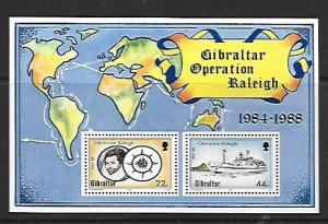 GIBRALTAR, 539, MNH, SS,OPERATION RALEIGH