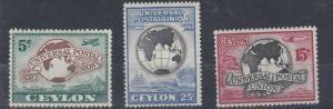 CEYLON   1949   U P U  SET    MH