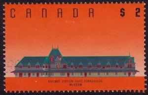 Canada - 1989 - Scott #1182 - used - McAdam Railway Station