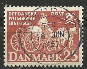 Denmark #331  Post Coach    (1) VF Used